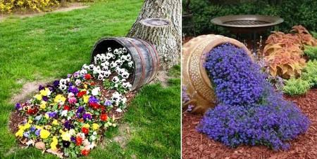 Poze Gradina de flori - Decor flori curgatoare