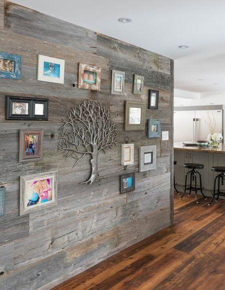 Poze Living - Lemnul, elementul principal pentru decorarea acestui perete