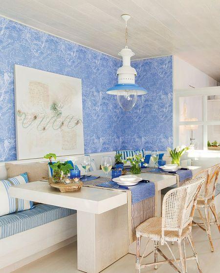 Poze Sufragerie - Albastrul este omniprezent in aceasta sufragerie