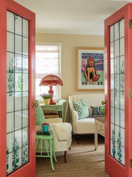 Poze Living - Culori calde, pastelate, specifice stilului vintage