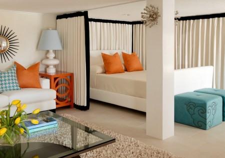 Poze Dormitor - Cum poti delimita dormitorul de living