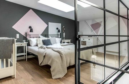 Poze Dormitor - Dormitor eclectic, imbinare inspirata de elementele clasice, moderne, retro sau industriale