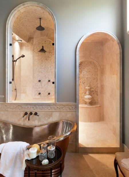 Poze Baie - Design interior pentru o baie clasica de lux