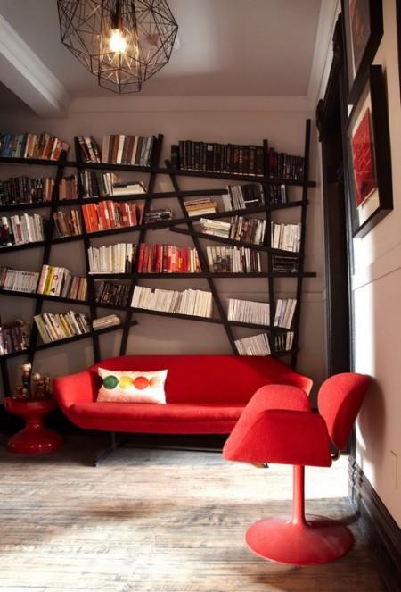 Poze Birou si biblioteca - Biblioteca cu un design ultramodern