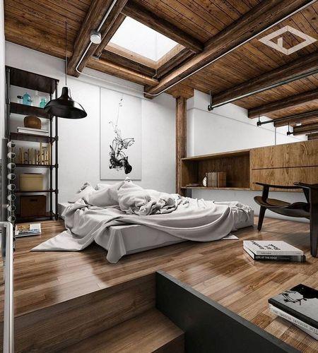 Poze Dormitor - Design modern pentru un dormitor la mansarda