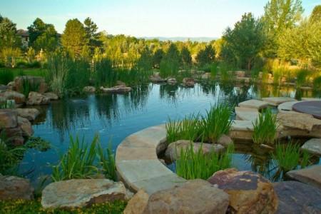 Poze Cascada si iaz - Iaz in care elementele naturale si cele artificiale se intrepatrund in deplina armonie