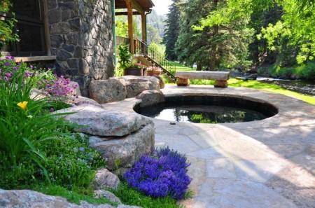 Poze Cascada si iaz - Fantana decorativa rustica
