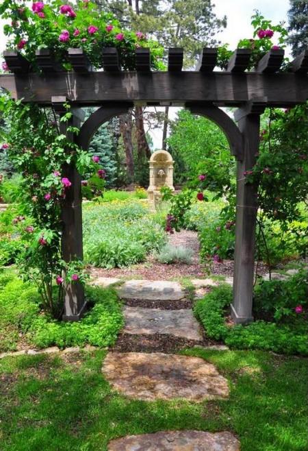 Poze Pergola - Amenajare gradina rustica
