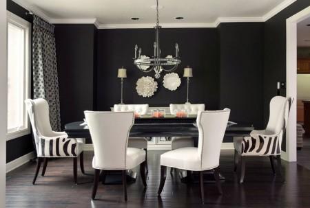 Poze Sufragerie - Decorarea in alb si negru