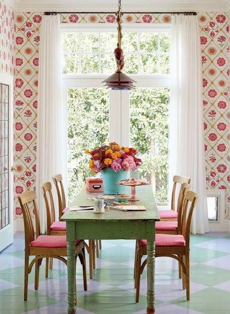 Poze Sufragerie - Un dining vintage plin de culoare
