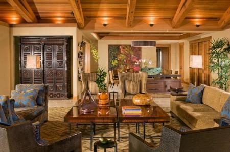 Poze Living - Mix inspirat intre piese de mobilier moderne si antice