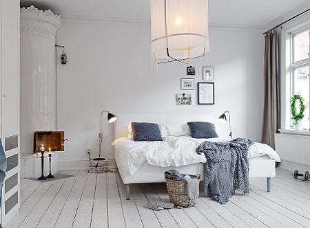 Poze Dormitor - Albul, culoarea preponderenta pentru interioarele decorate in stilul nordic