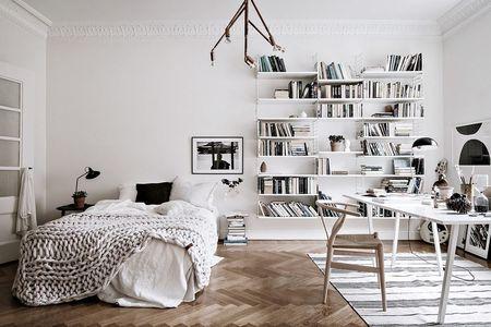 Poze Dormitor - Decor scandinav intr-un dormitor-birou