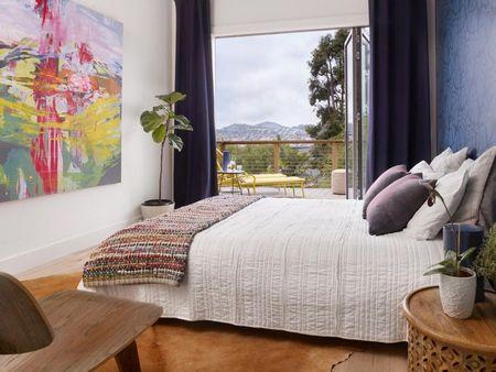 Poze Dormitor - Dormitorul matrimonial modern cu terasa