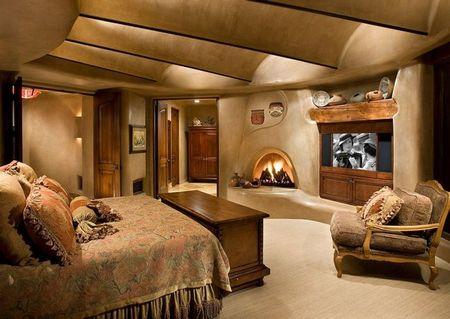 Poze Dormitor - Forme si materiale organice intr-un dormitor incantator
