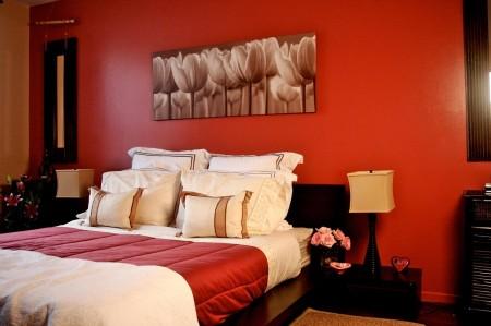 Poze Dormitor - Rosu, pentru o atmosfera romantica in dormitor