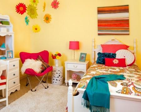 Poze Copii si tineret - Culori vesele pentru camera unei fete