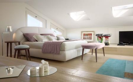 Poze Dormitor - Culori chic exprimate intr-o varietate de nuante