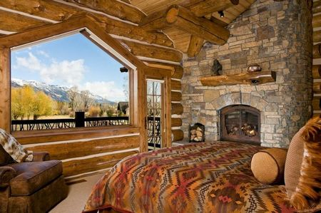Poze Dormitor - Dormitor cu un peisaj superb