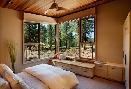 Poze Dormitor - Peisajul superb compenseaza decorul minimalist