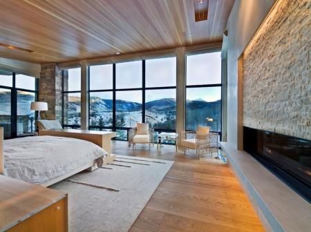 Poze Dormitor - Dormitor modern intr-o casa de vacanta montana