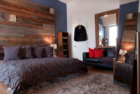 Poze Dormitor - Lemnul da personalitate acestui dormitor modern