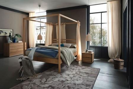 Poze Dormitor - Un dormitor cu un design contemporan, in care naturaletea finisajelor, a formelor si a liniilor primeaza