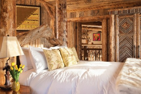 Poze Case lemn - Idee de amenajare pentru dormitorul unei cabane montane