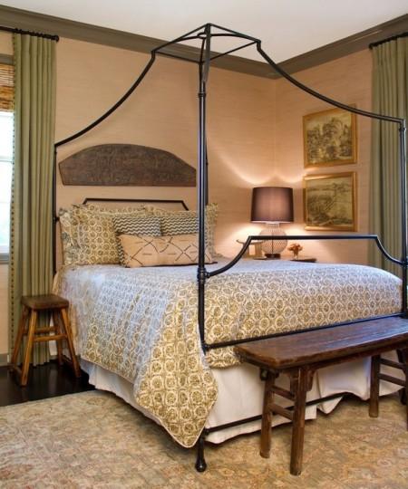Poze Dormitor - Dormitor in stil rustic-colonial
