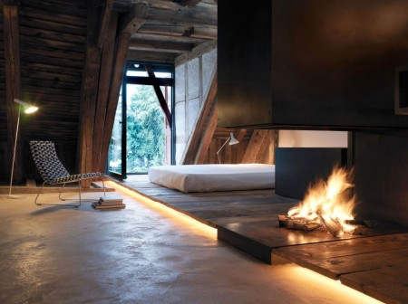 Poze Dormitor - Dormitor cu un design unic la mansarda
