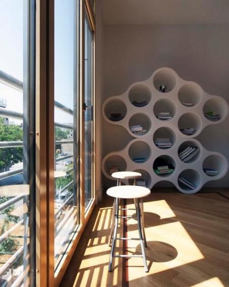 Poze Birou si biblioteca - Un raft neconventional