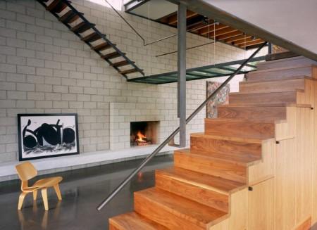 Poze Scari - Imagine scara din lemn, metal si sticla, Palms Residence, Ehrlich Architects