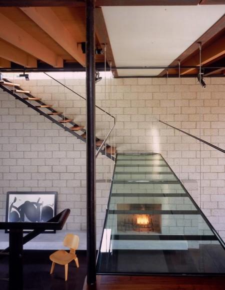 Poze Scari - Scara din lemn, metal si sticla, Palms Residence, Ehrlich Architects