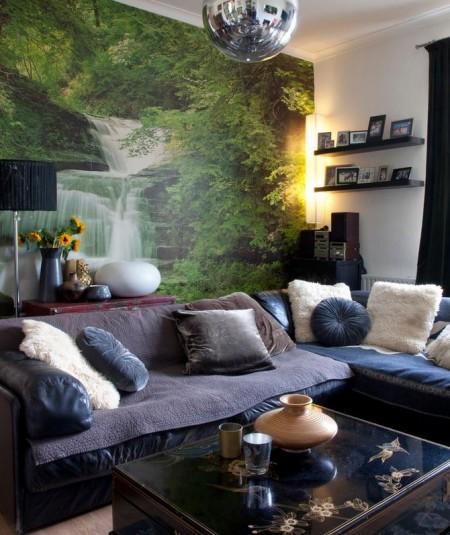 Poze Living - Panorama deosebita cu tapet
