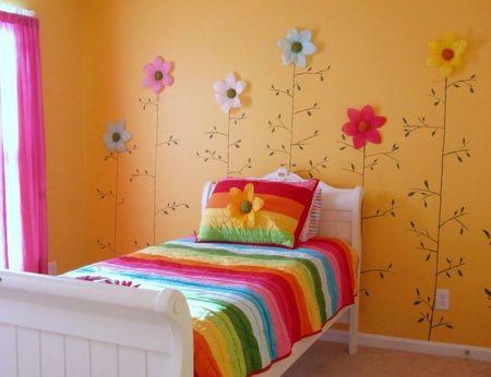 Poze Copii si tineret - Decor cu flori pentru camera fetitei
