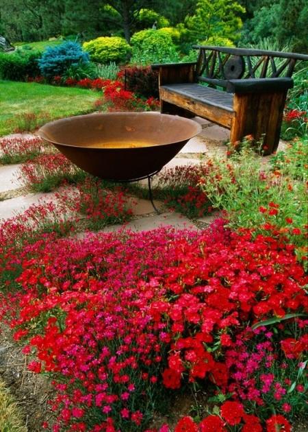 Poze Gradina de flori - Seri romantice in gradina