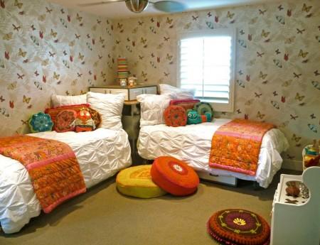 Poze Copii si tineret - Tapet cu fluturi pentru camera copiilor