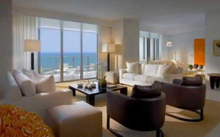 Poze Living - Living modern cu vedere la mare