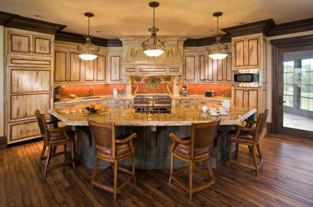 Poze Bucatarie - O bucatarie fantastica, amestec de simplitatea stilului rustic si eleganta stilului clasic