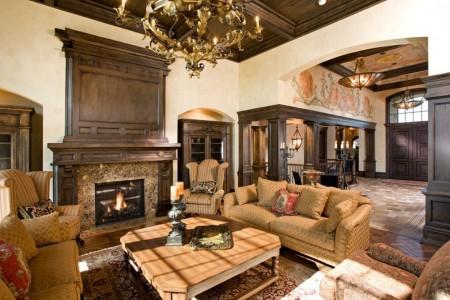 Poze Living - Zona de zi asemeni unui salon de castel