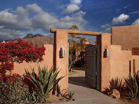 Poze Garduri si porti - gard-pamant-poarta-lemn-stil-mexican.jpg