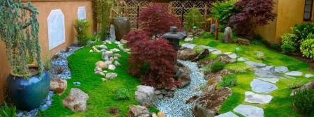 Poze Gradina de flori - Amenajare gradina cu influente asiatice