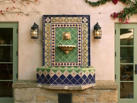Poze Cascada si iaz - Fantana arteziana de perete