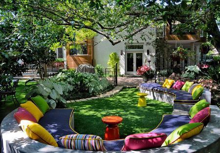 Poze Gradina de flori - Zona de relaxare plina de culoare