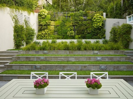 Poze Gradina de flori - Teren in panta transformat intr-o gradina minunata