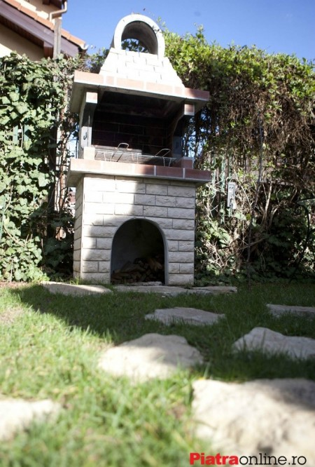 Poze Seminee, gratare gradina - Gratar de gradina placat cu piatra naturala decorativa