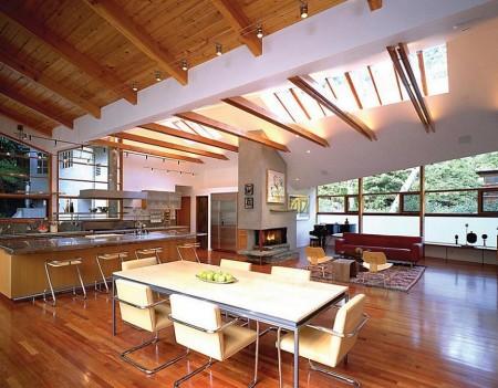 Poze Living - Lemn si inox intr-un interior modern
