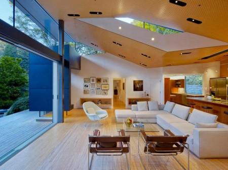 Poze Living - Living modern scaldat in lumina naturala