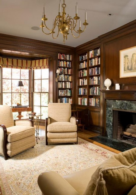 Poze Birou si biblioteca - Birou-biblioteca traditional