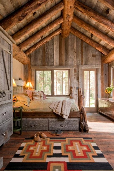 Poze Dormitor - Imagini dormitor rustic